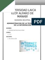 Adminisytracion de La Tecnologia Informacion Internet de Las Cosas