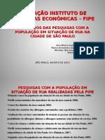 FIPE - Censo 2009 e Levantamento 2010