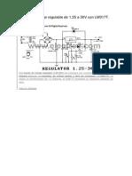 Fuente de voltaje regulable de 1.25 a 30V con LM317T