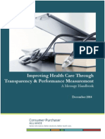 C-P Alliance Improving Health Care Through Transparency and Performance Measurement