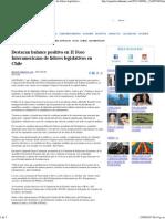 08-08-15 Destacan balance positivo en II Foro Interamericano de Líderes Legislativos en Chile