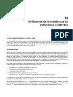 Evaluación de la resistencia de estructuras existentes