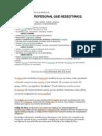 Perfil y Código de La Ética Profesional argentina