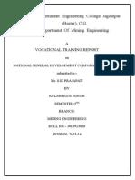 NMDC  Vocational Training Report