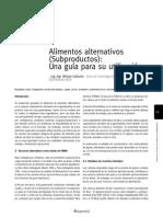 utilizacion de subproductos para alimentacion animal