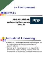 BE Industrial Licensing