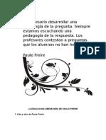 La Educacion Liberadora de Paulo Freire b