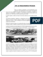 Historia de La Maquinaria Pesada