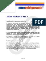Ficha Refrigerante - r410a