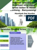 Seminar Rancangan Aktualisasi Nilai Dasar