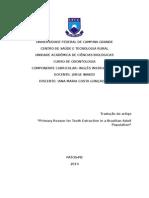 Principal Razão Para a Extração Dos Dentes Em Uma População Adulta Brasileira