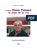 Jean-Pierre Vernant [=] Le sens de la vie