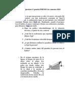 Propuesta de Ejercicios 1ª Prueba FMF 025 1er Semestre 2013