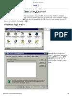 El Odbc de SQL Server
