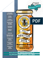 2015 Fall Program Georgia Beekeepers Association Conference