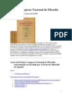 Primer Congreso Nacional de Filosofía