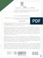 Decreto 562 de 2014
