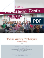 Teknik Tulis Tesis (Format UTM) version 1