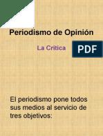 Géneros Periodísticos de Opinión (Crítica)