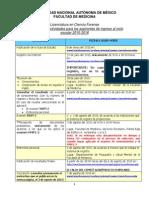 Calendario de Actividades para aspirantes de la Carrera de Cincias Forenses UNAM 2015