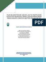 Microsoft Word - PLAN DE GESTIÓN DE USO DE LAS TIC