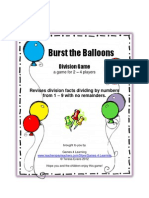 Burst the Balloons Division Game