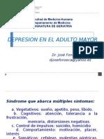 Depresión en El Adulto Mayor - Usmp- Semana 9 Geriatria Dr Fonseca