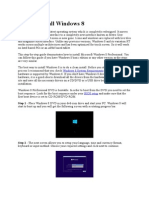 How to Install Windows 8.docx