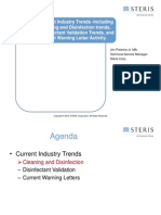 Current Industry Trends Cleaning Disinfection Trends Disinfectant Validation Trends and Current