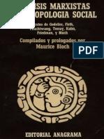 Bloch Maurice - Analisis Marxistas y Antropologia Social