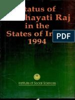 Status of Panchayatiraj in the States of India 1994