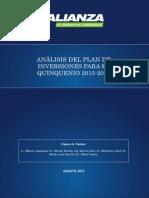 Plan de Inversiones Para El Quinquenio 2015-2019
