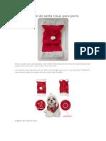 Patrón de Traje de Santa Claus Para Perro