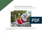 Vestido de Navidad Para Perro