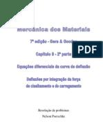 9.2 - Deflexão Em Vigas, Deflexão Por Integração Da Força de Cisalhamento e Do Carregamento Do Livro Mecânica Dos Materiais, Gere, 7ª Edição, Exercícios Resolvidos