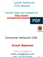 Consumer behavior-3 session