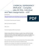 Psy 425 – Chemical Dependency in the Workplace – Complete Class Includes All Dqs, Individual and Team Assignments – Uop