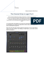 The Channel Strip in Logic Pro X - Week 3