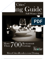 Quad Cities' Dining Guide published by the River Cities' Reader