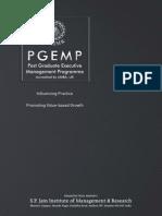 SPJIMR PG Executive Management Program Brochure