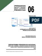 Modul 06 KKPI - Mengoperasikan Perangkat Lunak Presentasi
