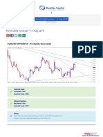 Forex Daily Forecast - 11 Aug 2015 Bluemaxcapital
