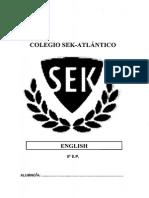 Cuaderno Verano Lengua Inglesa 5º