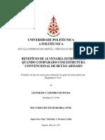 Benefício de Alvenaria Estrutural Quando Comparado com Estrutura Convencional de Betão Armado