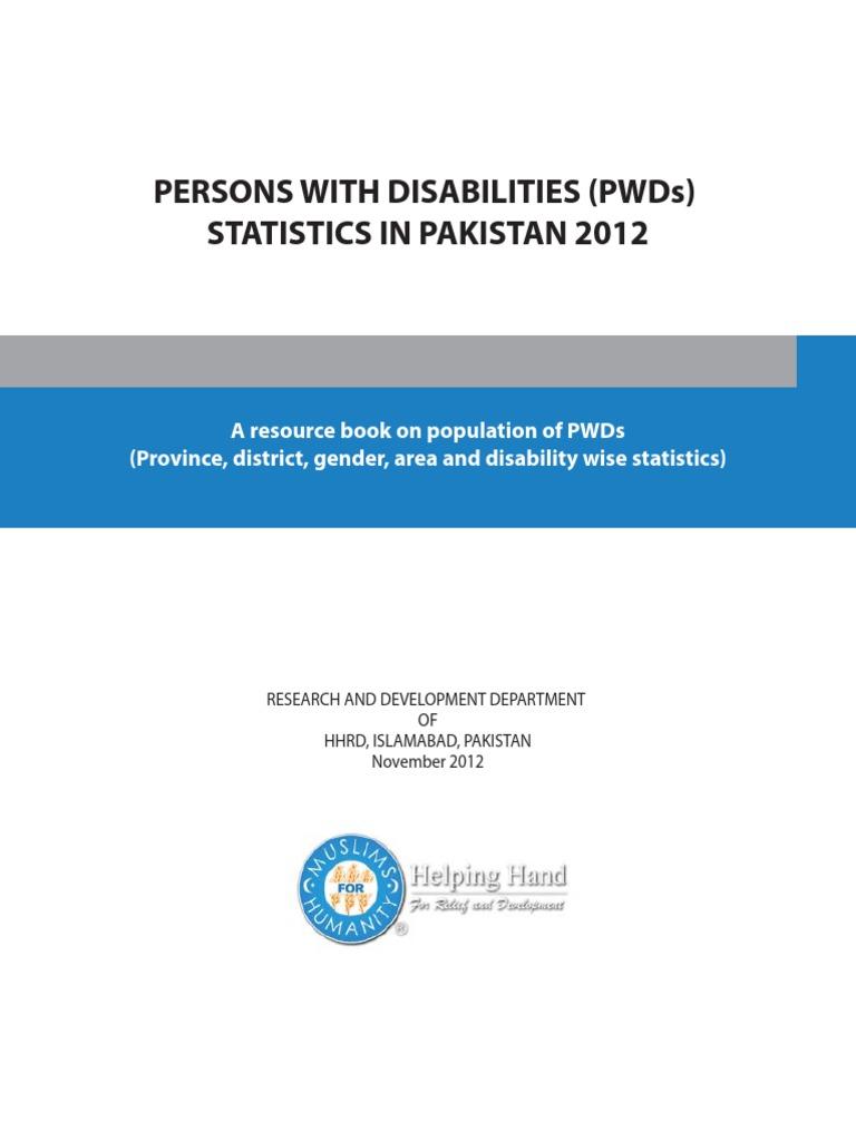 PWDs Statistics in Pakistan 2012 2   Pakistan   Census