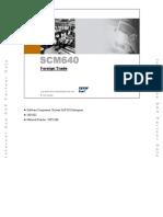 SCM640 Foreign Trade