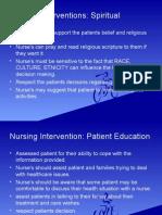 Nursing Interventions (Geriatric Cases)