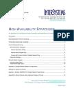 High Availability Strategies