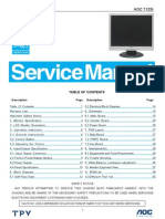 AOC TFT-LCD Color Monitor 712Si I-module (OTPV) Service Manual