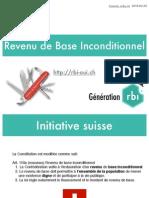 Présentation du Revenu de Base Inconditionnel - initiative populaire Suisse